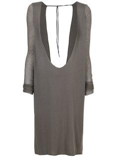 платье с глубоким вырезом и открытой спиной  Rick Owens Lilies