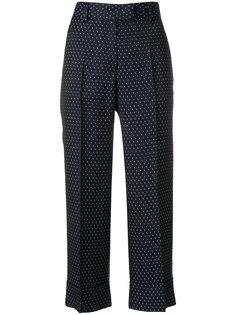 укороченные брюки в горошек  Alberto Biani