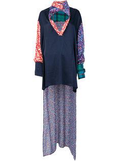 асимметричная блузка с принтом  Esteban Cortazar