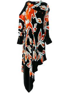 асимметричное платье с драпировкой Peter Pilotto