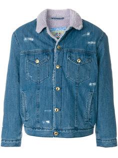 джинсовая куртка с потертой отделкой Gcds