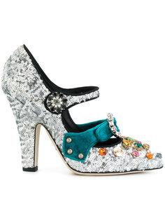 туфли-лодочки Mary Jane с пайетками Dolce & Gabbana