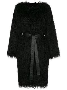 пальто из искусственного длинношерстного меха Nili Lotan