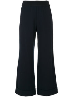 расклешенные брюки с отворотами  Emporio Armani