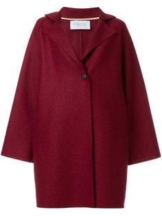 объемное однобортное пальто Harris Wharf London