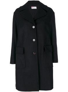 однобортное пальто  Red Valentino
