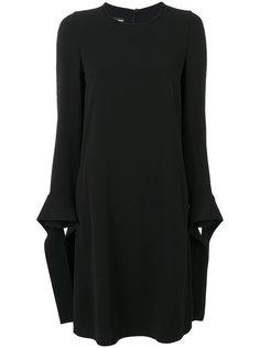 платье шифт с завязками на манжетах  Emporio Armani