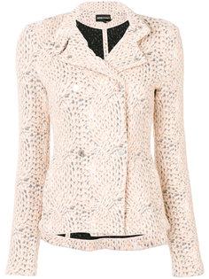 приталенный пиджак  Emporio Armani