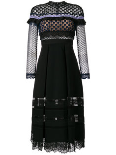 платье с кружевной отделкой Self-Portrait