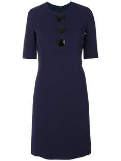 приталенное платье с большими пуговицами  Emporio Armani
