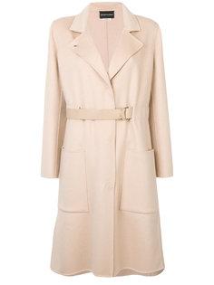 пальто с поясом  Emporio Armani