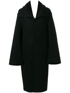 пальто с V-образным вырезом Yohji Yamamoto