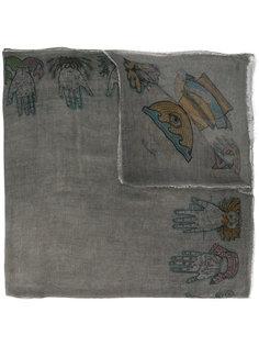 шарф с принтом мистических знаков Faliero Sarti