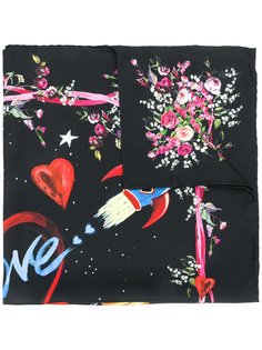 шарф с принтом космоса и робота Dolce & Gabbana
