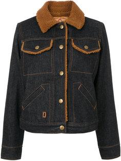 джинсовая куртка с отделкой из овечьего меха Marc Jacobs