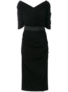 платье с оборками  Dolce & Gabbana