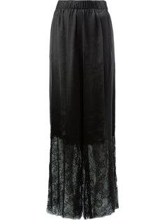 брюки с кружевным подолом Vera Wang