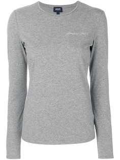 топ с принтом-логотипом Armani Jeans