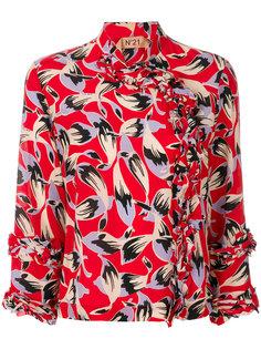 блузка с принтом листьев Nº21