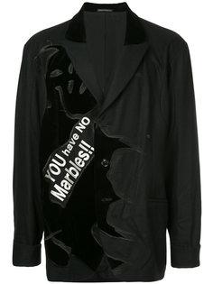 пиджак с заплаткой I-Gore Yohji Yamamoto