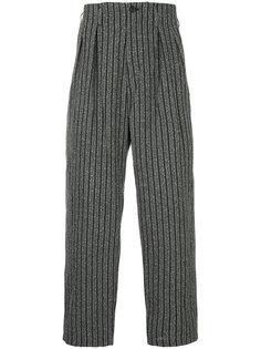 зауженные полосатые брюки Yohji Yamamoto