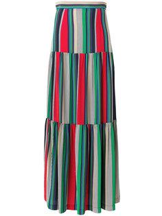 полосатая юбка-макси Erika Cavallini