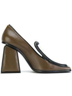 туфли с верхушкой в стиле мокасин Marni