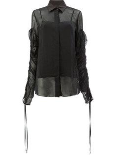 блузка с завязками на рукавах  Vera Wang