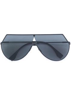 солнцезащитные очки-авиаторы ломаной формы Fendi Eyewear