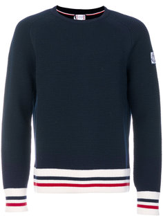 свитер с полосатой отделкой Moncler Gamme Bleu