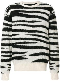 полосатый свитер Stussy