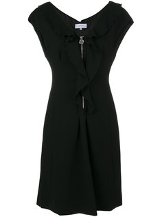 платье с застежкой на молнию и оборками Carven
