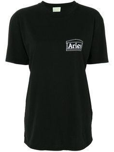 футболка с принтом логотипа Aries