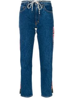 укороченные джинсы с логотипом Aries