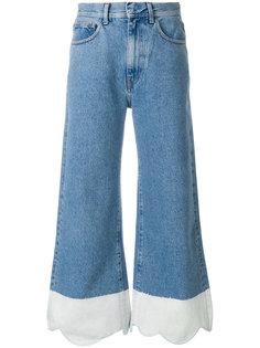 джинсы с контрастным дизайном Ssheena