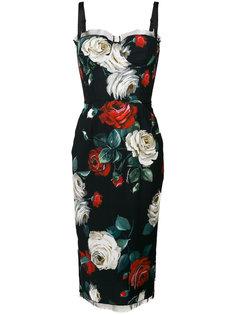 платье-бюстье с цветочным принтом Dolce & Gabbana