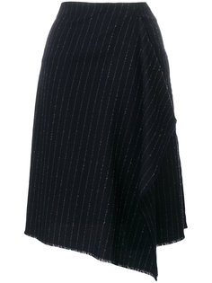 асимметричная юбка в тонкую полоску  Golden Goose Deluxe Brand
