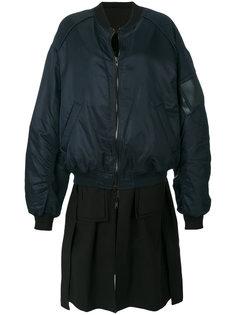 куртка-бомбер с многослойным эффектом Juun.J