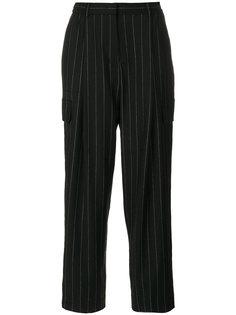 брюки свободного кроя в полоску Juun.J