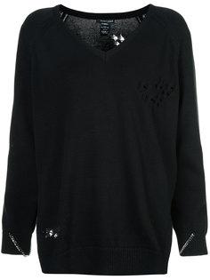 свитер с потертой отделкой Thomas Wylde