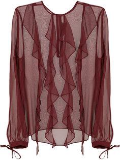 прозрачная блузка с рюшами Thomas Wylde
