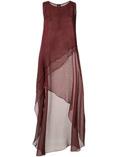 асимметричное струящееся платье Thomas Wylde