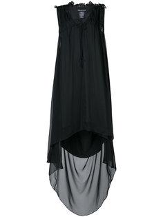 платье с рюшами и неравномерным подолом Thomas Wylde