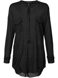 прозрачная блузка с длинными рукавами Thomas Wylde