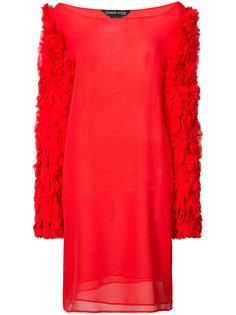 прозрачное платье с приспущенными плечами Thomas Wylde