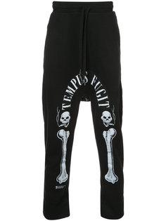 спортивные брюки с принтом костей 11 By Boris Bidjan Saberi