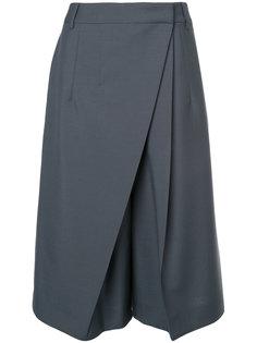укороченные брюки с плиссированной деталью Jil Sander