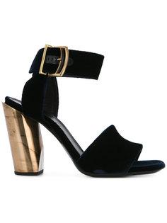 сандалии с широким ремешком на щиколотке Jil Sander