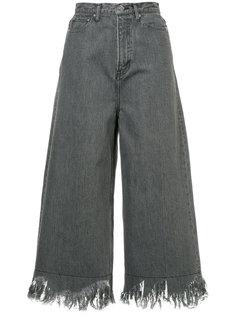 укороченные джинсы клеш  Cityshop