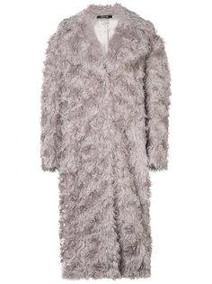 фактурное пальто прямого кроя Maison Margiela